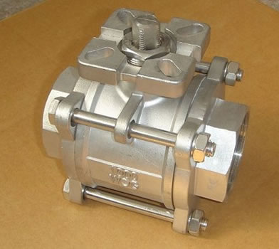 3PC Screwed Ball Valve With ISO5211 Pad